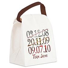 UK_dates_teamjacob Canvas Lunch Bag