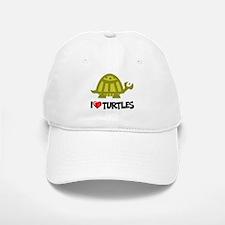 I Love Turtles Baseball Baseball Cap