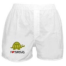 I Love Turtles Boxer Shorts
