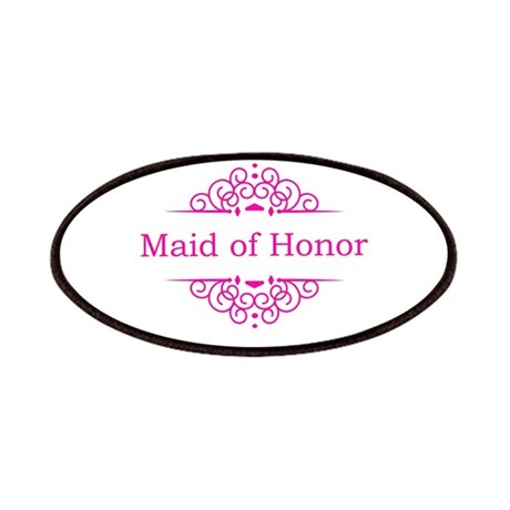 Maid of Honor in hot pink Patches