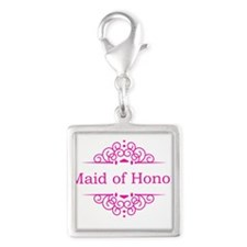 Maid of Honor in hot pink Charms