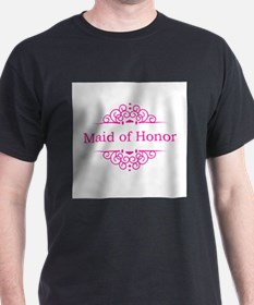 Maid of Honor in hot pink T-Shirt