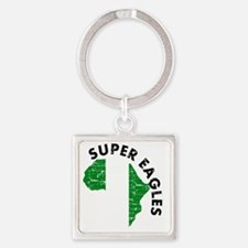 african soccer designs Square Keychain