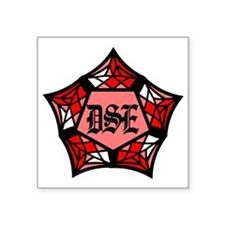 """DSE Red Square Sticker 3"""" x 3"""""""
