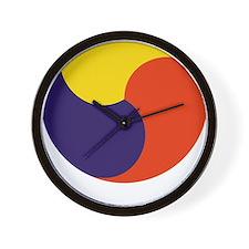 soccerKorea2Bk Wall Clock