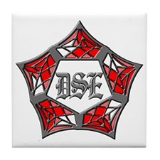 DSE Red 4 Tile Coaster