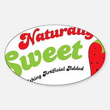 naturallysweet Sticker (Oval)