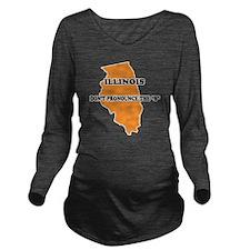 2-Illinois Long Sleeve Maternity T-Shirt