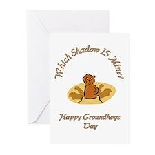 groundhogs Greeting Cards (Pk of 10)