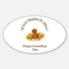 groundhogs Oval Decal