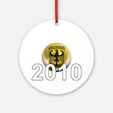 Germany Football5Bk Round Ornament
