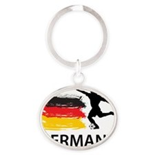 Germany Football2 Oval Keychain