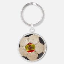 Spain Football3 Round Keychain