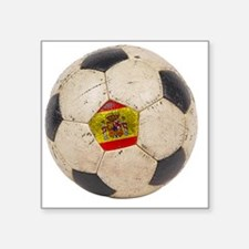 "Spain Football3 Square Sticker 3"" x 3"""