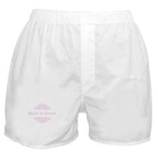 Maid of Honor in pink Boxer Shorts