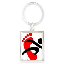 runbarefoot small left Portrait Keychain