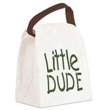 Little dude olive Canvas Lunch Bag