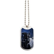 shield to the throat flat Dog Tags