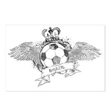 Brazil Football4 Postcards (Package of 8)