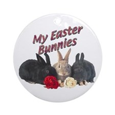 My Easter Bunnies Ornament (Round)