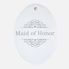 Maid of Honor in silver Ornament (Oval)