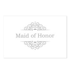 Maid of Honor in silver Postcards (Package of 8)
