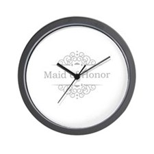 Maid of Honor in silver Wall Clock