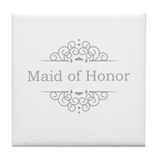 Maid of Honor in silver Tile Coaster