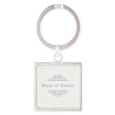 Maid of Honor in silver Keychains