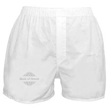 Maid of Honor in silver Boxer Shorts
