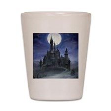 gothic castle reworked Shot Glass