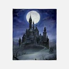 gothic castle reworked Throw Blanket