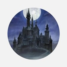 gothic castle reworked Round Ornament