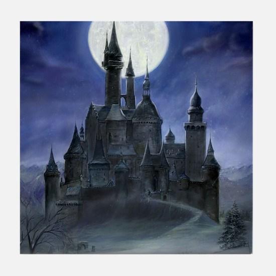 gothic castle reworked Tile Coaster