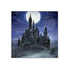 "gothic castle reworked Square Sticker 3"" x 3"""