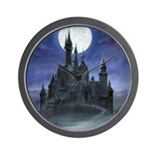 gothic castle reworked Wall Clock