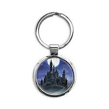 gothic castle reworked Round Keychain
