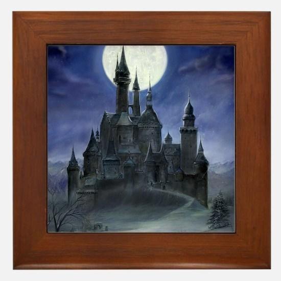 gothic castle reworked Framed Tile