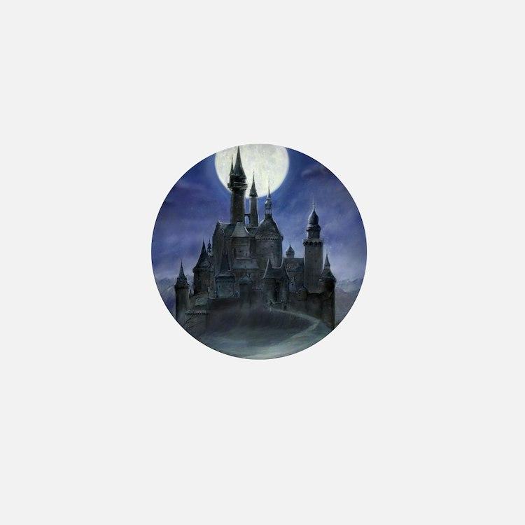 gothic castle reworked Mini Button