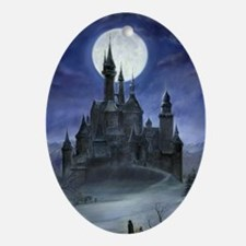 gothic castle reworked Oval Ornament
