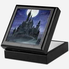 gothic castle reworked Keepsake Box