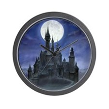 gothic castle reworked square Wall Clock