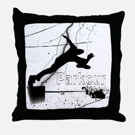 2-Parkour-lines10x10 copy Throw Pillow