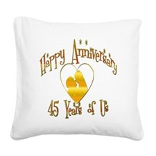 happy anniversary heart 45 Square Canvas Pillow