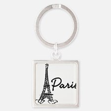 2-paris Square Keychain
