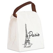2-paris Canvas Lunch Bag