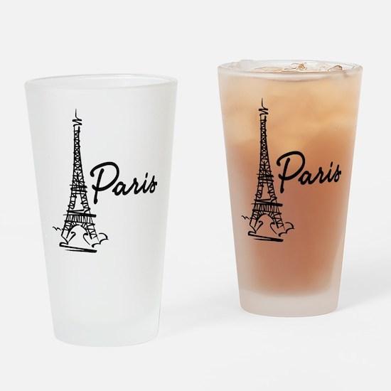 2-paris Drinking Glass