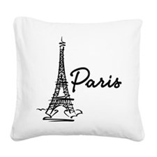 2-paris Square Canvas Pillow