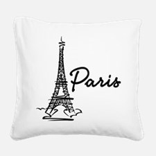 2-paris Square Canvas Pillow