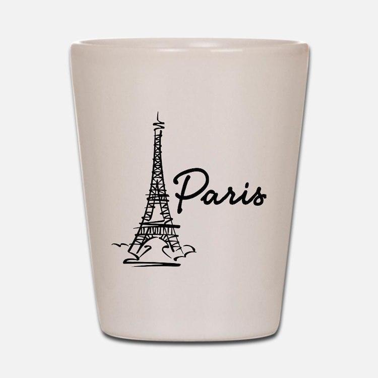 2-paris Shot Glass